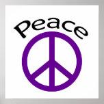 Paz y palabra púrpuras posters