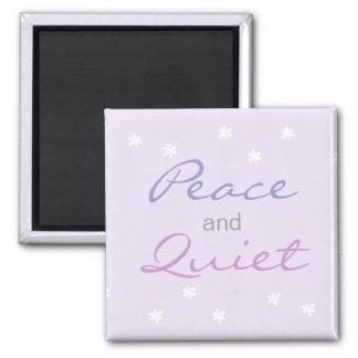 Paz y palabras reservadas (lila) imanes de nevera