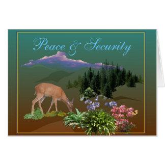 Paz y seguridad tarjeta de felicitación