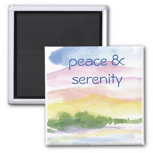 paz y serenidad imán de nevera