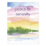 paz y serenidad tarjetas postales