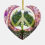Paz y símbolo de las flores adorno