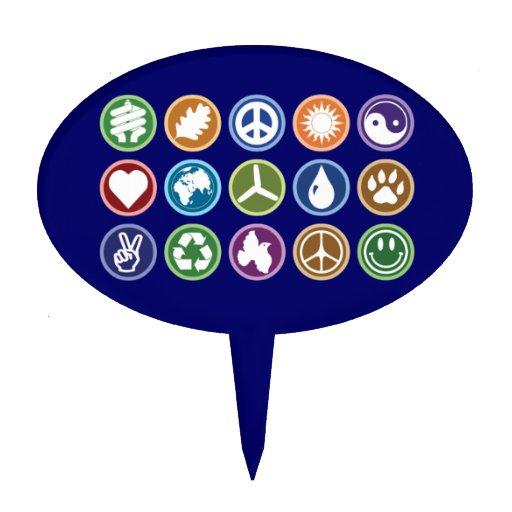 Paz y símbolos de Eco Palillos De Tarta