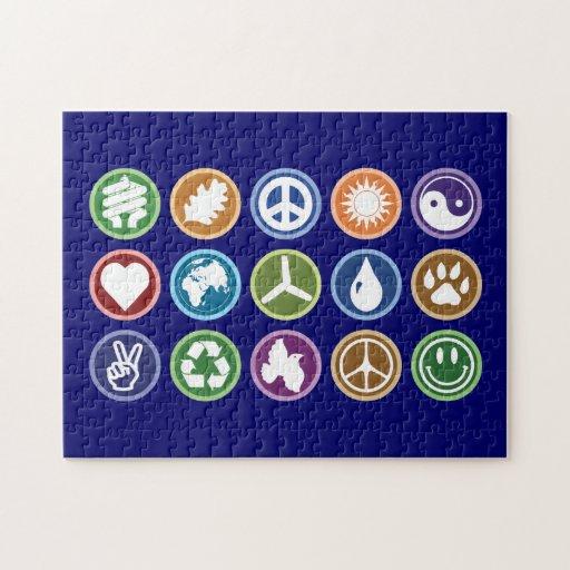 Paz y símbolos de Eco Rompecabezas