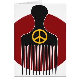Paz y tarjeta de felicitación de Nappyness