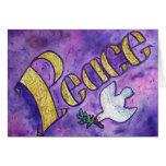 Paz y tarjeta de felicitación del arte de la