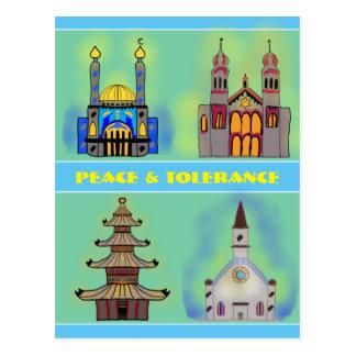 Paz y tolerancia tarjetas postales