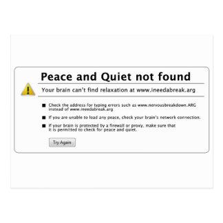 paz y tranquilidad postales
