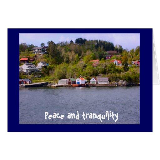Paz y tranquilidad tarjeta de felicitación