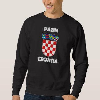 Pazin, Croatia with coat of arms Pull Over Sweatshirts