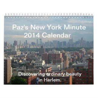 Paz's New York Minute 2014 Calendar