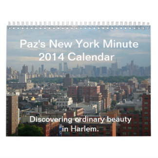 Paz's New York Minute 2014 Calendar