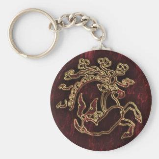 pazyryk animal basic round button keychain