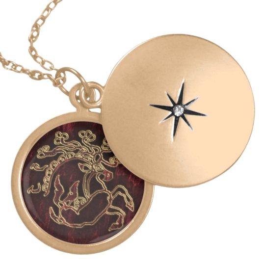 pazyryk animal gold plated necklace