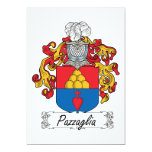 Pazzaglia Family Crest 5x7 Paper Invitation Card