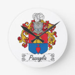 Pazzaglia Family Crest Clock