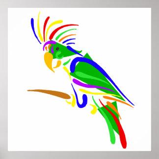 Pazzie Parrot Poster