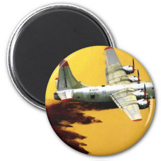 PB4 FIREFIGHTER AIRCRAFT 2 INCH ROUND MAGNET