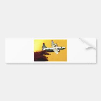 PB4 FIREFIGHTER AIRCRAFT BUMPER STICKER