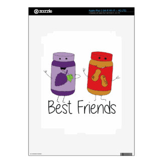 PB and J Best Friends- Color Skin For iPad 3