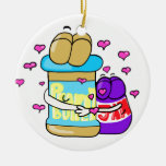 Pb&j Bestfreinds graphic Double-Sided Ceramic Round Christmas Ornament