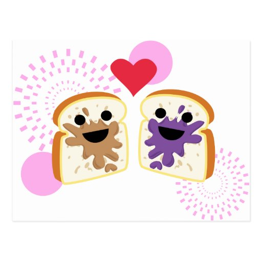 PB& J Love Post Cards