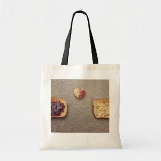 pb&j love tote bag