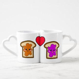 PB & J Lovers' Mugs Couples' Coffee Mug Set