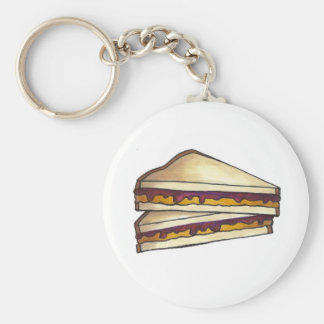 PB&J Peanut Butter and Jelly Keychain