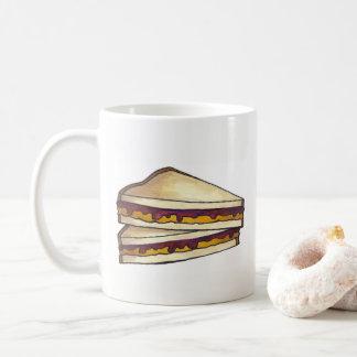 PB&J Peanut Butter and Jelly Sandwich Lunch Food Coffee Mug