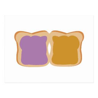 PB & J Sandwich Postcard