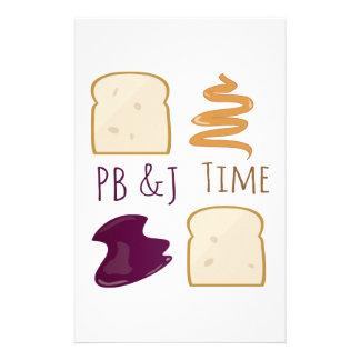PB &J Time Stationery