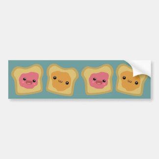 PB&J Toast Bumper Sticker