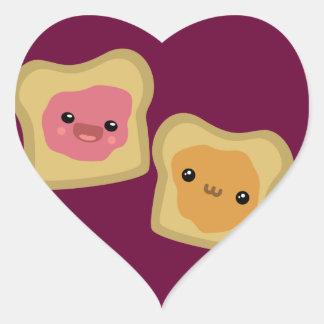 PB&J Toast Heart Sticker