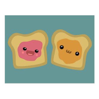 PB&J Toast Postcard