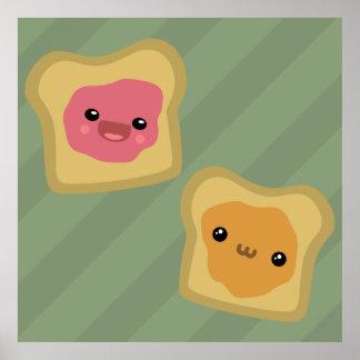 PB&J Toast Poster