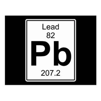 Pb - Lead Postcard