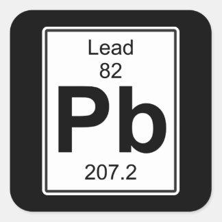 Pb - Lead Square Sticker