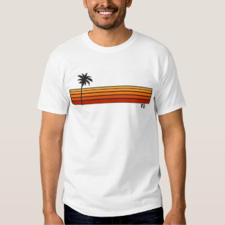 PB (Paradise Bay) Early 80s Beach Style On White T T Shirt