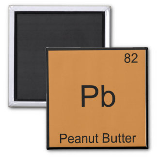 Pb - Peanut Butter Funny Element Chemistry T-Shirt 2 Inch Square Magnet