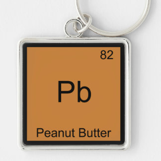 Pb - Peanut Butter Funny Element Chemistry T-Shirt Key Chain