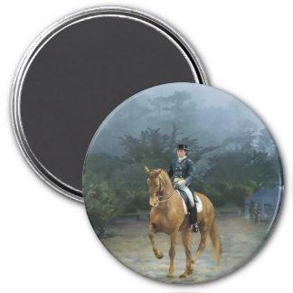 PB Piaffe Dressage Horse Art 3 Inch Round Magnet