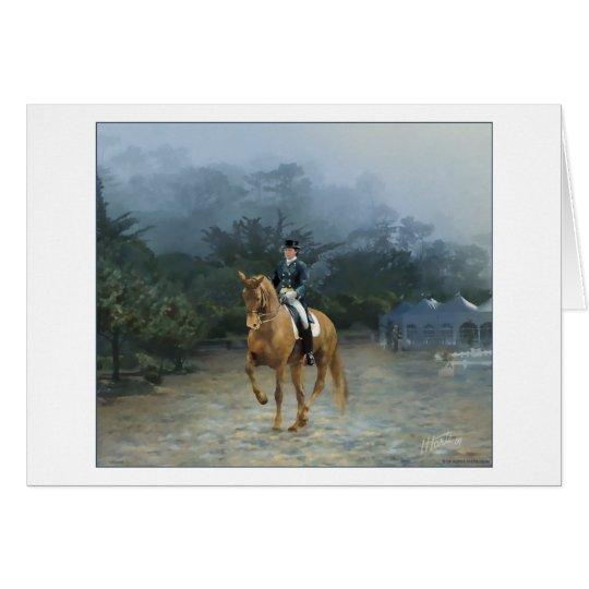 PB Piaffe Dressage Horse Art Card