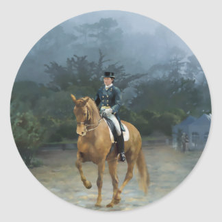 PB Piaffe Dressage Horse Art Classic Round Sticker