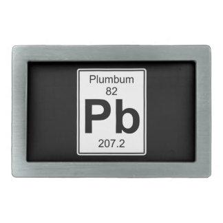 Pb - Plumbum Belt Buckle