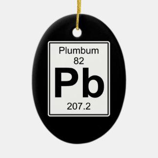 Pb - Plumbum Ceramic Ornament