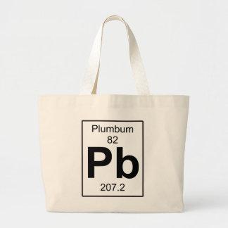Pb - Plumbum Large Tote Bag