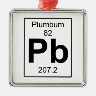 Pb - Plumbum Metal Ornament