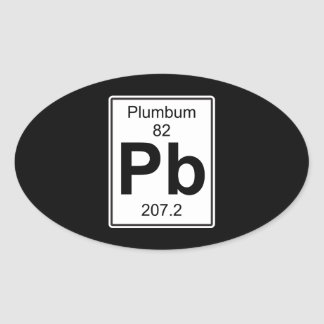 Pb - Plumbum Oval Sticker