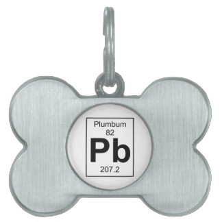 Pb - Plumbum Pet Name Tag